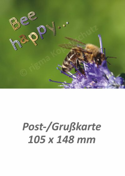 Bee happy - Postkarte